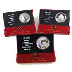 Lot of 3x 2005-2007 Canada $20 Tall Ships Fine Silver Coins. You will receive 2005 Three Masted Ship