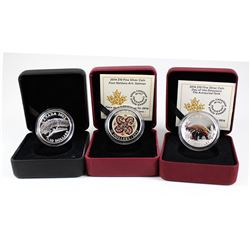 Lot of 3x 2012-2016 Canada $10 Fine Silver Coins. You will receive 2012 National Geographic - Prayin