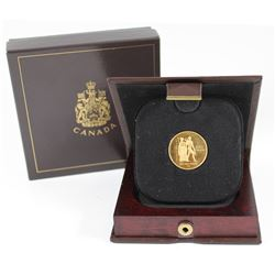 1976 Canada $100 Montreal Summer Olympic Proof 22 Karat Gold Coin in original dislay box, COA and ou