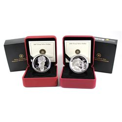 2007 Canada Thayendanegea & 2008 Quebec City 400th Anniversary Proof Sterling Silver Dollars. 2pcs