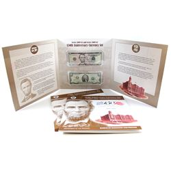 2009 $5 & 2009 $2 United States 150th Anniversary Currency Set in Collector Album with Booklet.