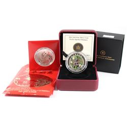 2012 Canada $10 Year of the Dragon & 2013 Canada $10 Twelve-spotted Skimmer Fine Silver Coins (Tax E