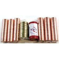 Group Lot of Canada Original 1-cent & Loon $1 Rolls. You will receive 3x 2012 Non Magnetic 1-cent Ro