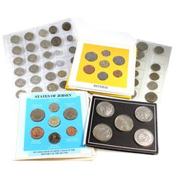 Estate Lot of World Coins. You will receive a 1987 Jersey Uncirculated 7-coin Set, 1988 Guernsey Unc
