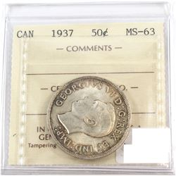 1937 Canada 50-cent ICCS Certified MS-63