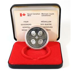1952-1977 Canada Four Governors General Sterling Silver Medallion.