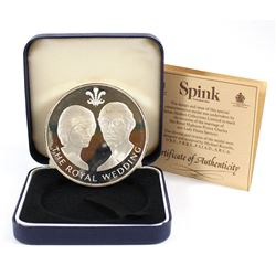 1981 Royal Wedding Charles & Diana Sterling Silver Medallion Produced by Spink*. Coin comes in the O