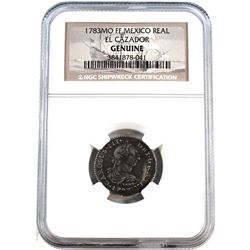 1783MO FF Mexico Real El Cazador NGC Shipwreck Certified Genuine with COA Explaining Some Informatio