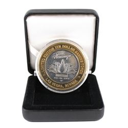 Limited Edition Bugsy Siegel Flamingo Hilton $10 .999 Fine Silver Gaming Token. Comes encapsulated i