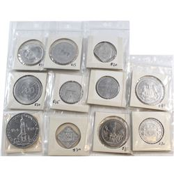 Estate Lot of 11x German Aluminum Tokens Dated 1920-1923. You will receive mostly 'Notgeld' tokens w