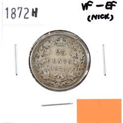 1872H Canada 25-cent VF-EF (Nick)