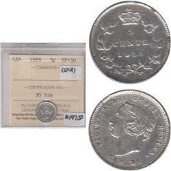1889 Canada 5-cent ICCS Certified VF-30 (scratch)