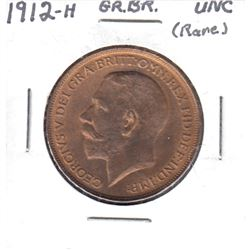 1912H Great Britain 1-Penny Uncirculated.