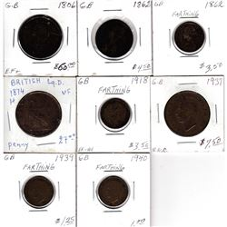 Estate Lot 1806-1940 Great Britain Coin Collection. You will receive the following; 1806 Half Penny,