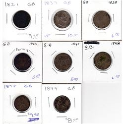 Estate Lot 1821-1899 Great Britain Farthing Collection. You will receive: 1821, 1837, 1838, 1843, 18