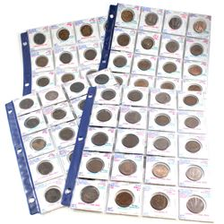 Estate Lot 1724-1967 Great Britain Half Penny Collection. You will receive a mix of dates from 1724