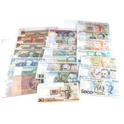 Estate Lot of Mixed Brazil Banknotes. You will receive 22 mixed denomination Banknotes. Please refer