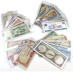 Estate Lot of Mixed World Banknotes. You will receive a mix of denominations from the following Coun