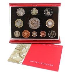 2003 United Kingdom Deluxe 11-coin Proof Set with Original Case and COA.