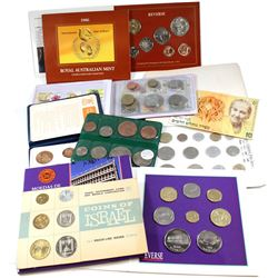 Estate Lot of Mixed World Coin Sets. You will receive the following; Britain's 1st Decimal 5-coin Se