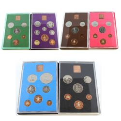 1970-1975 Great Britain and Northern Ireland Coin Set Collection. You will receive each set released