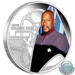 2015 Tuvalu $1 Star Trek: Deep Space Nine - Captain Benjamin Sisko 1oz .999 Fine Silver Proof Coin i