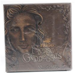 2017 Tuvalu $2 Norse Goddesses - Frigg 2oz. Antique High Relief Silver Coin (Tax Exempt)