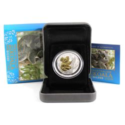 2013 Australia $1 Gilded 1oz Fine Silver Koala (Tax Exempt)