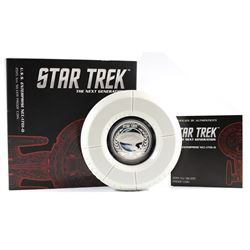 2015 Australia $1 Star Trek - U.S.S Enterprise NCC-1701 Proof Silver Coin (Tax Exempt). Please note