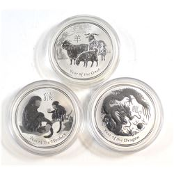 2012-2016 Australia $1 Lunar 1oz Fine Silver Coins (Tax Exempt). You will receive the 2012 Year of t