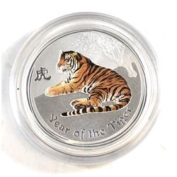 2010 Australia 50-cent Coloured 1/2oz Year of the Tiger (Tax Exempt)