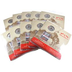 Estate Lot of 10x 2012 Canada 25-cent 100 Years of the Calgary Stampede Coin & Stamp Sets. 10pcs