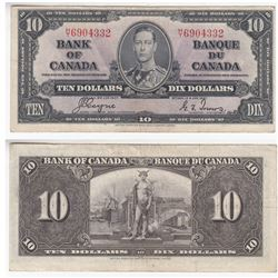 1937 $10.00 Note with Coyne-Towers Signatures.