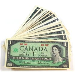 50 x 1967 $1.00 Notes in Circulated Condition. 50 pcs.