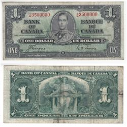 1937 $1.00 Note with a Neat Serial Number, T/M3500000.