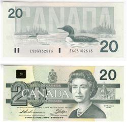 1991 4 digit RADAR $20.00 Note in UNC Condition.