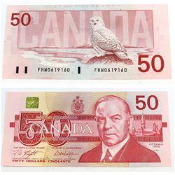 1988 4 digit RADAR $50.00 Note in Almost UNC Condition.