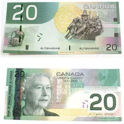 2004 2 digit RADAR $20.00 Note in Choice UNC Condition.