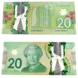 2012 2 digit RADAR $20.00 Note in VF-EF Condition.