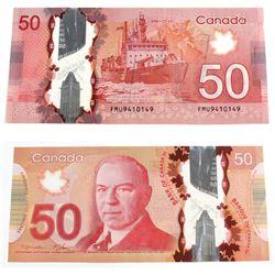 2012 4 digit RADAR $50.00 Note