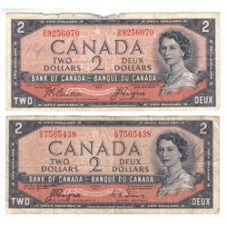 Complete Signature Type Set of the 1954 Devil's Face $2.00 Series. Included are Two 1954 Devil's Fac