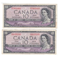 Complete Signature Type Set of the 1954 Devil's Face $10.00 Series. Included are Two 1954 Devil's Fa