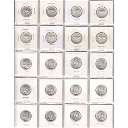 1967-1968 (Silver) Canada 25-cent Lot. You will receive 8x 1967 & 12x 1968. 20pcs.