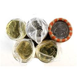 Estate Lot of Original Mint Rolls. You will receive 3x 2016 $1 Loon Rolls, 2016 25-cent Roll, and 20