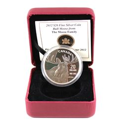 2012 Canada $20 Robert Bateman 'SIGNED COA' Bull and Moose Fine Silver Coin (Tax Exempt). Please not