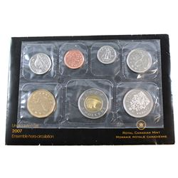 2007 Canada 'Curved 7' Proof Like Set with Errors. This set includes the following errors, 50-cent '