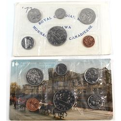 1972 & 1978 Canada Uncirculated Sets with Errors. The 1972 Set contains 1-cent with Cut Rim Defect,