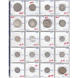 Estate Lot of Silver Coins and Banknote Collection. You will receive a 1945 NFLD 10-cent, 1917 NFLD