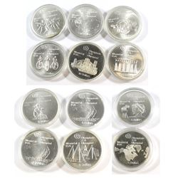 Estate Lot of 12x 1976 Canada $5 and $10 Olympic Sterling Silver Coins. You will receive 6x $5 (with
