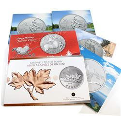 Estate Lot of 6x 2012-2014 Canada $20 for $20 Series Fine Silver Coins. You will receive 2012 Farewe